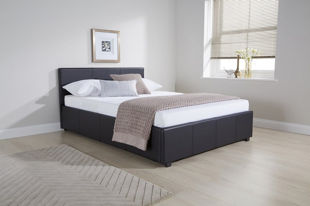 Milan Bed Company Seattle 5ft Kingsize Leather Bedstead