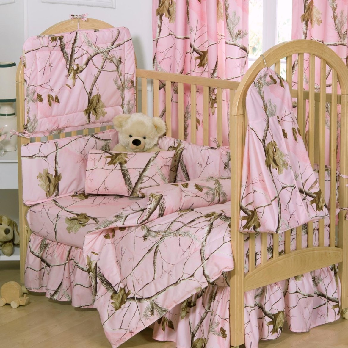 Pink Realtree Crib Bedding