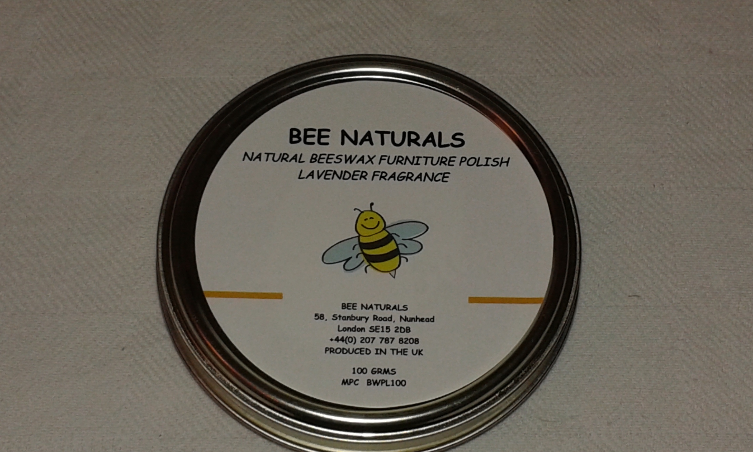 NATURAL Premium HANDMADE BEESWAX Furniture POLISH With Lavender