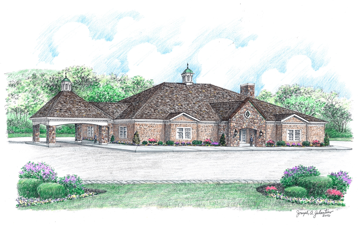 This Artistu0027s Rendering Shows The Albini Funeral Home/crematory Proposed  For Benson Road In Middlebury