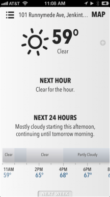 Forecast Home Screen