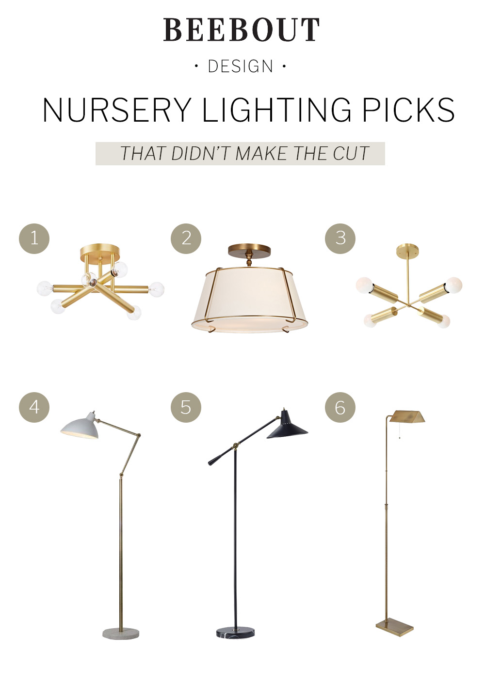 One Room Challenge Week 5 Light Fixture Roundup by Beebout Design.