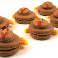 Chestnut and cinnamon turkey macarons