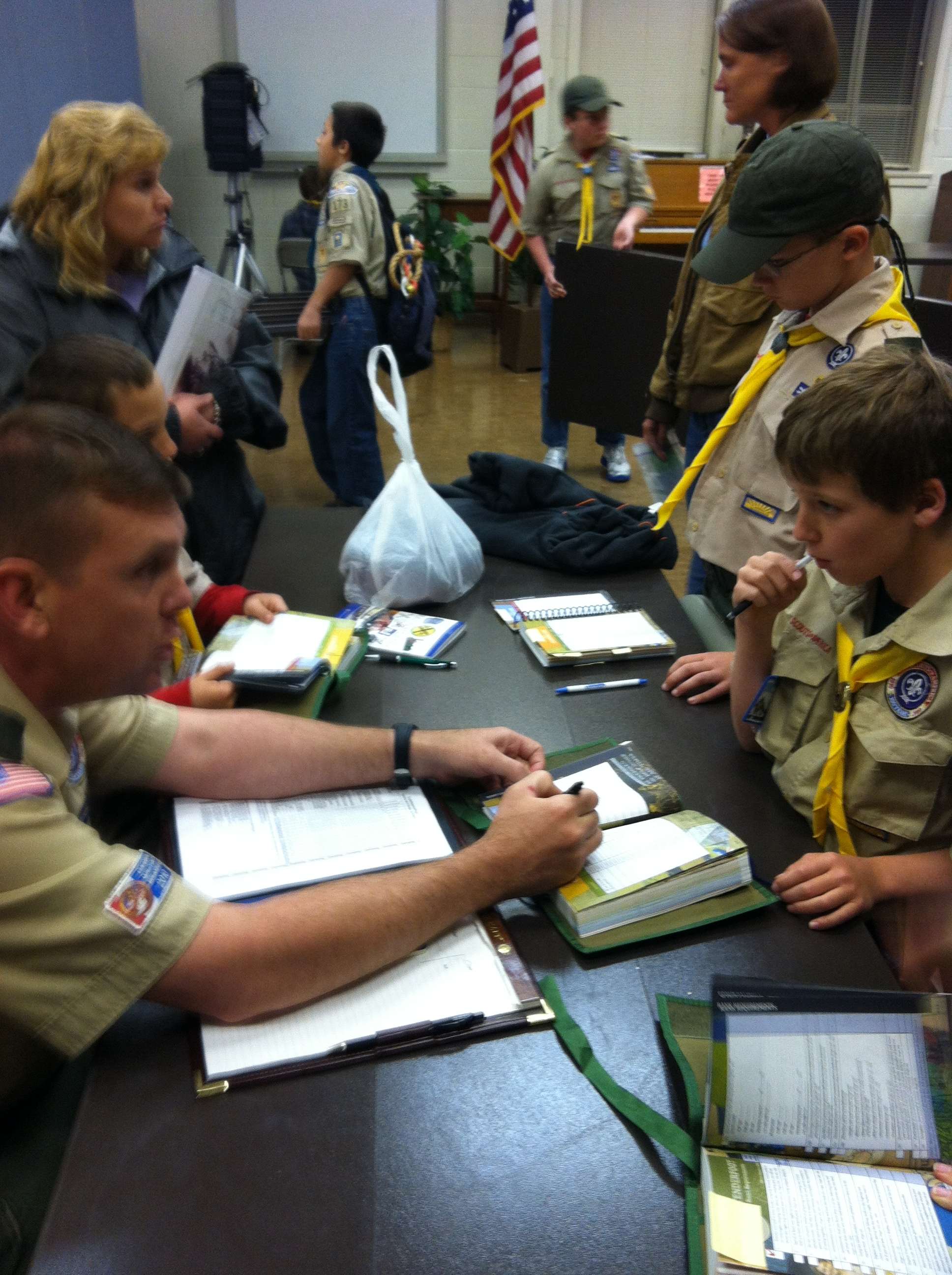 My First Official Boy Scout Meeting