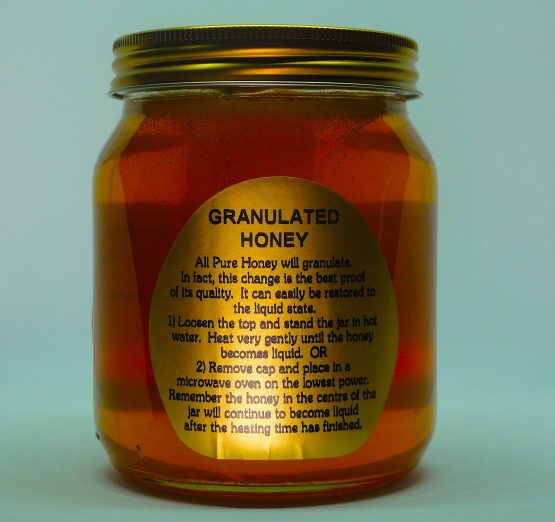 The rear elevation of a jar of Wantage Honey from Beehive Yourself. #BeehiveYourself #WantageHoney