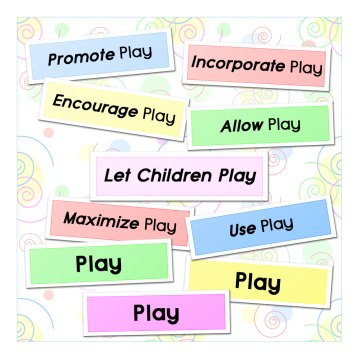 playful learning; playful learning activities; playful learning resources; learning through play; early years education; preschool play; children's play; importance of play
