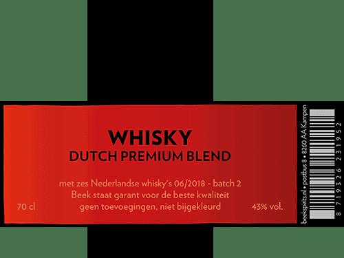 etiket Whisky Dutch Premium Blend batch 2