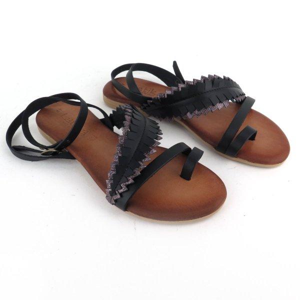"Sandali in pelle ""foglia"""