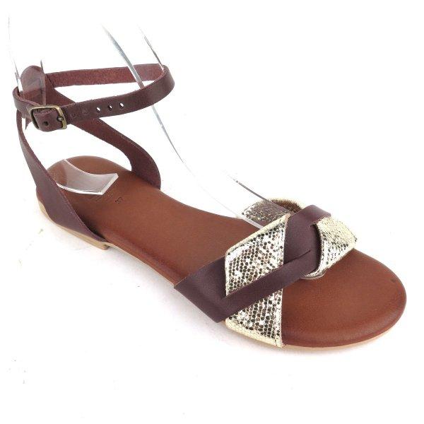 Sandali in pelle fascia intrecciata