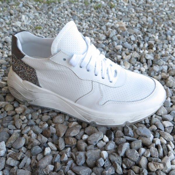 Sneaker Alta Argento