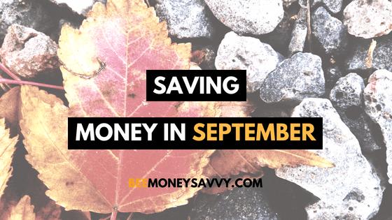 Save Money in September