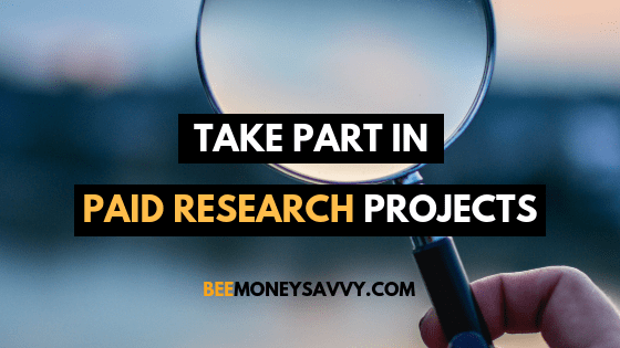 Respondent: Take Part in Paid Research Projects