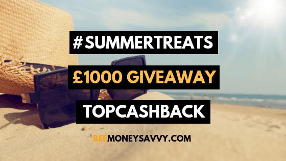 TopCashback: #SummerTreats £1000 Giveaway