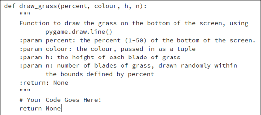 Drawing Grass in Pygame – Beens org