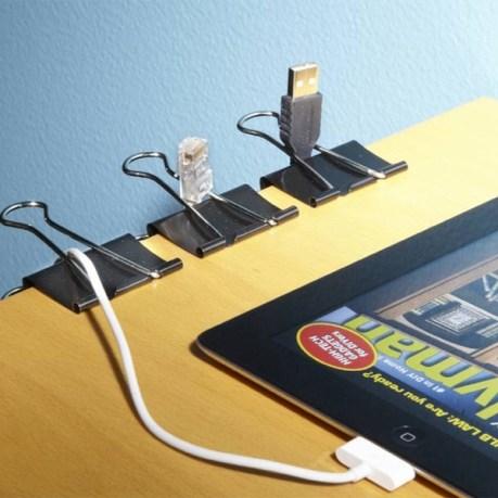 rangement fils électriques