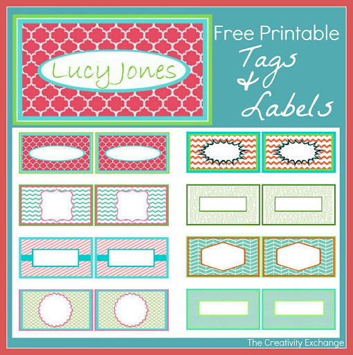 S lection d 39 tiquettes imprimer pour vous organiser for Free name tag templates for kids