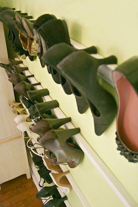 idée originale pour le rangement des chaussures