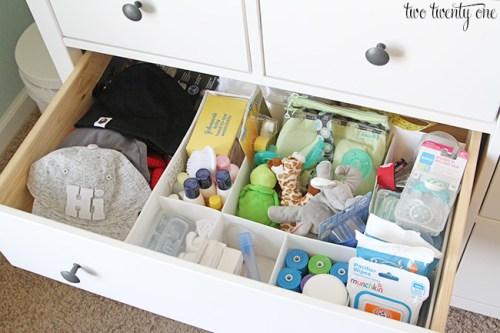 organisation commode bébé