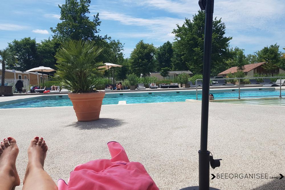 weekend en famille à yelloh village où nous avons profité de la piscine chauffée