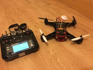 My Eachine 250 Racing drone... well, the important bits anyway.