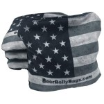 American Flag Set of 4 Beer Belly Bags Performance Cornhole Bags