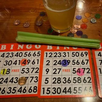 Crazy time at @barrelheadsf last night. Beer + Bingo and a super fun time. Thanks BH crew for all the giggles and the celery beer luges