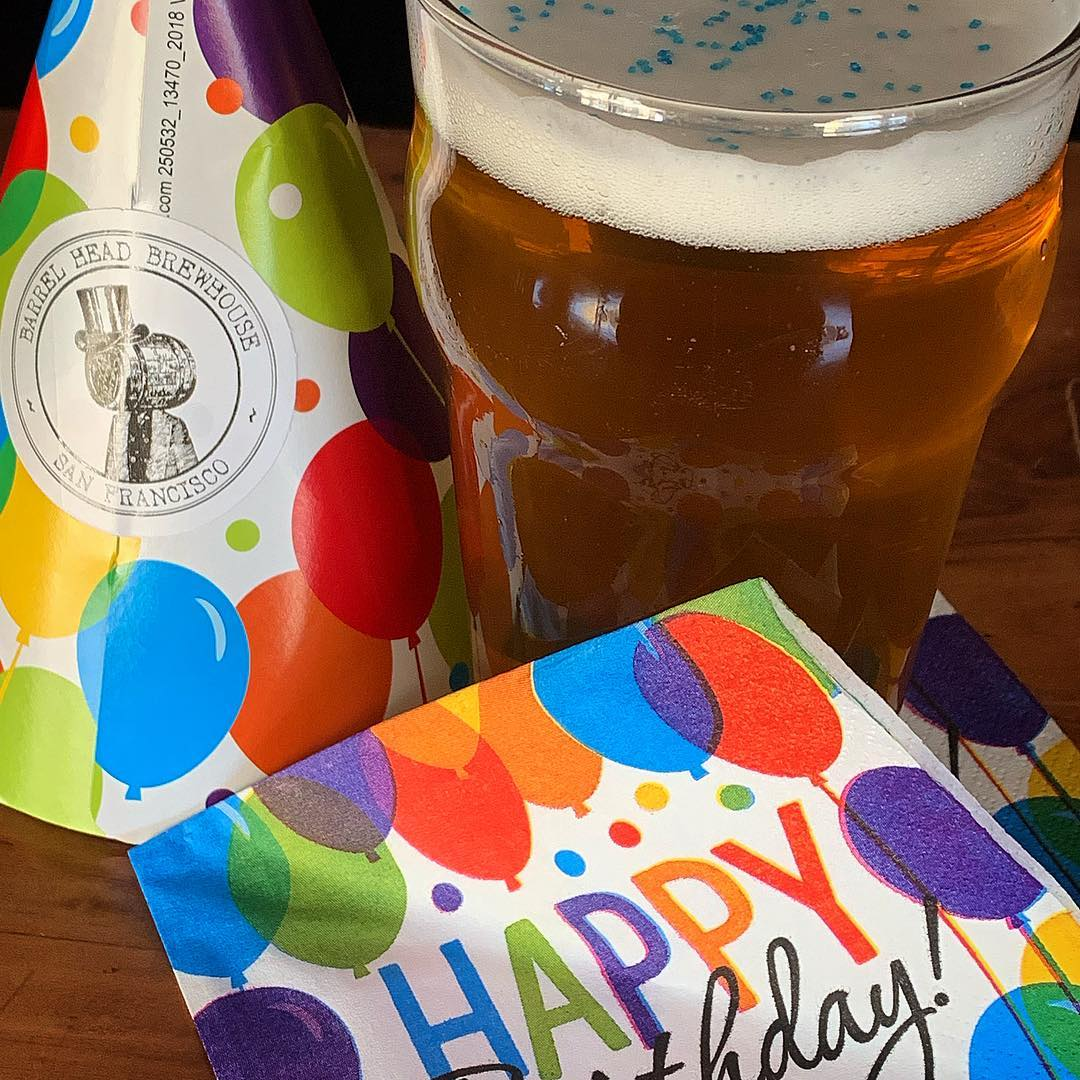 They grow up so quick! Happy 5th, @barrelheadsf!!! (Yes, that happens to be sprinkles on my beer – optional