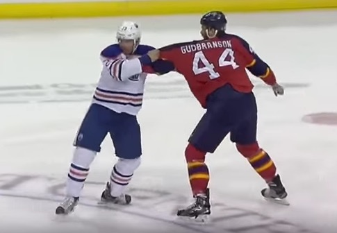 Gudbranson hadn't even thrown a punch and Hendy was bracing himself.