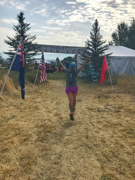 Wasatch Front 100 finish line