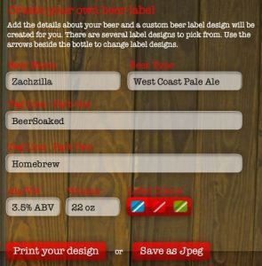 The Easiest Online Beer Label Maker
