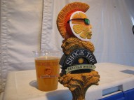 Backstage at Blondie / Devo, the jockey box only had Shocktop or Michelob Ultra. I went for the mohawk.