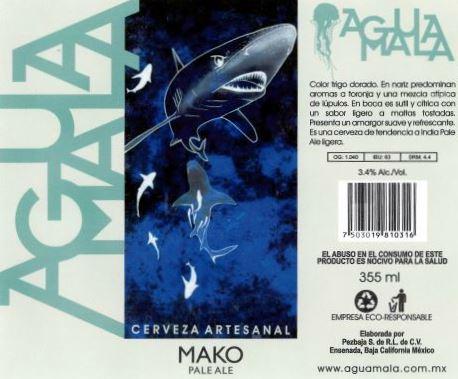 Agua Mala Pale Ale Label