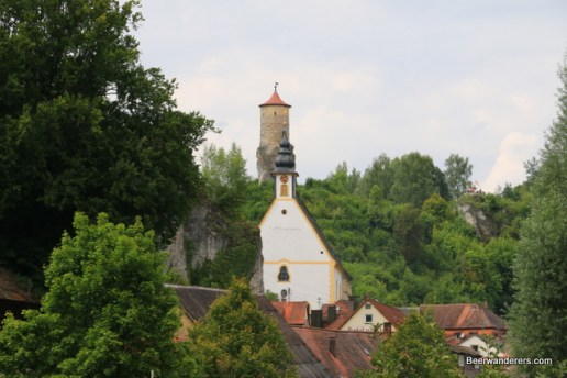 castle tower and church