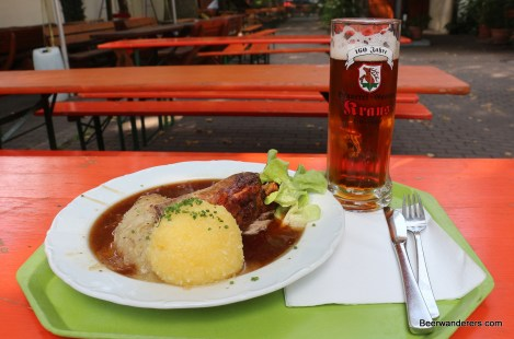 beer with food