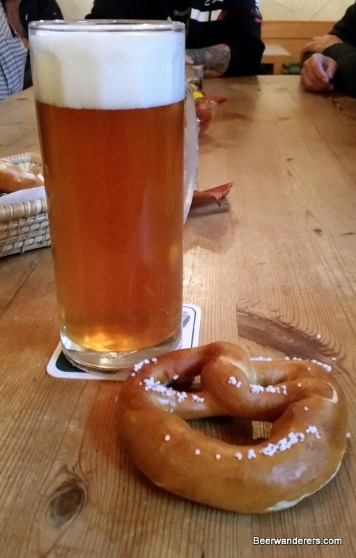 pretzel and beer