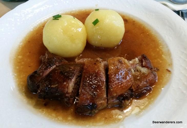 duck breast with dumplings