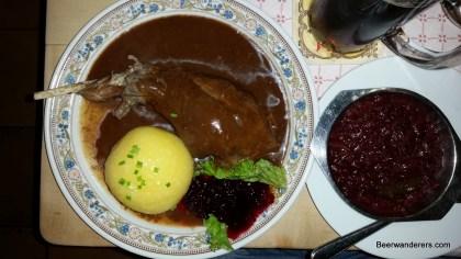 roast rabbit leg with dumpling