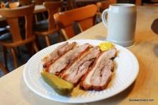 cold roast pork on plate