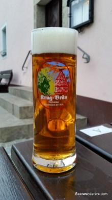 dark golden beer in mug