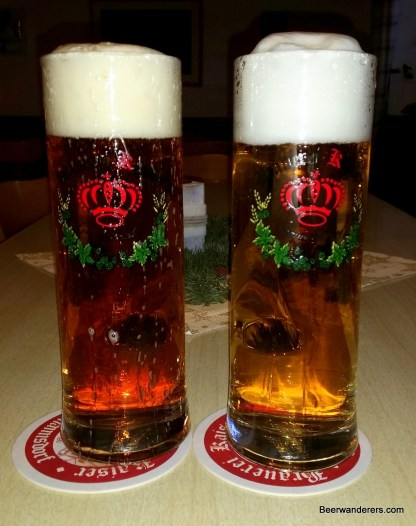 two beers in mugs