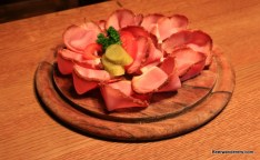 meat on wooden dish