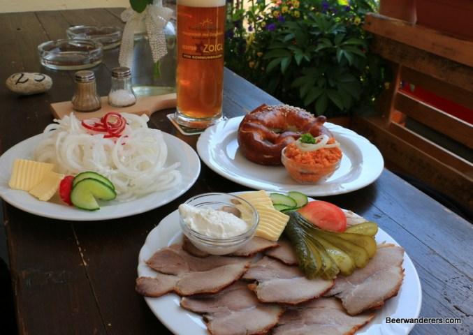 lots of food at Zoiglstube