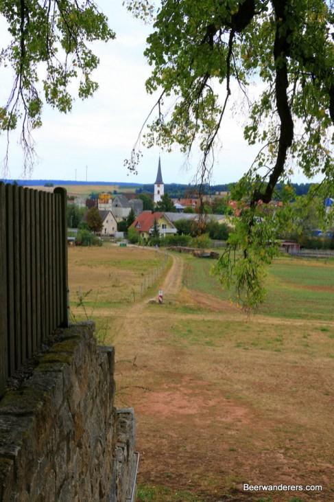 view from biergarten