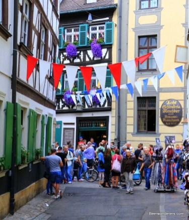 street scene at beer festival