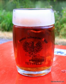 amber beer in seidla mug