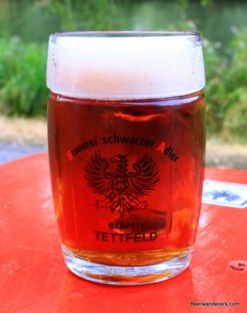amber beer in seidla mug