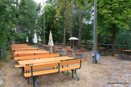 empty Biergarten
