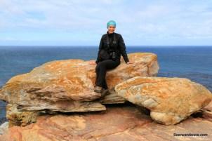 girl on rocks