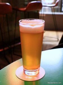 unfiltered golden beer in glass