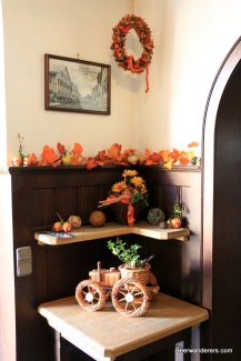 fall leaves and decorations